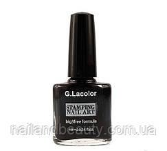 Лак д/ногтей для стемпинга 10 мл G.Lacolor 001