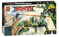 """Конструктор Bela 10718 """"Механический Дракон Зелёного Ниндзя"""" Ниндзяго Муви, 573 деталей. Аналог Lego 70612, фото 1"""