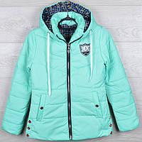 """Куртка демисезонная """"5"""" для девочек. 8-9-10-11-12 лет (128-152 см). Мята. Оптом., фото 1"""