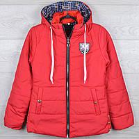 """Куртка демисезонная """"5"""" для девочек. 8-9-10-11-12 лет (128-152 см). Красная. Оптом., фото 1"""