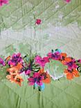Покривало стьобане з наволочками 210х240 Квіти в саду, фото 5