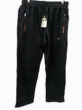 Брюки теплые Shooter зимние мужские спортивные штаны Шутер  Черные с коричневым на карманах