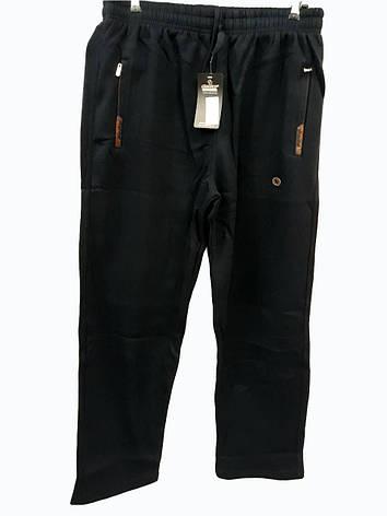 Брюки теплые Shooter зимние мужские спортивные штаны Шутер  Черные с коричневым на карманах, фото 2