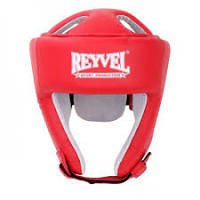 Шлем боксерский REYVEL винил (2) Красный
