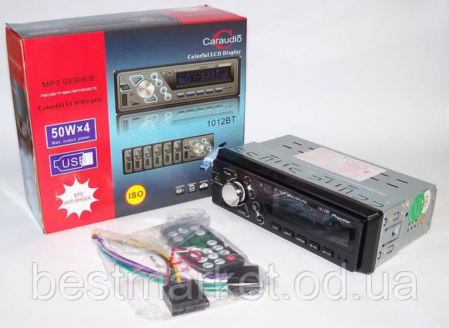 Автомагнитола  1012BT 50W*4 с bluetooth/MP3/SD/USB/AUX/FM