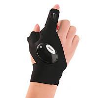 Перчатки Glove Light со встроенным фонариком Правая Черный (SUN1857)