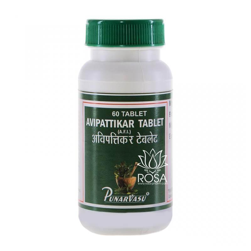 Авипаттикар (Avipattikar Tablet, Punarvasu) снижение повышенной кислотности, 60 таблеток