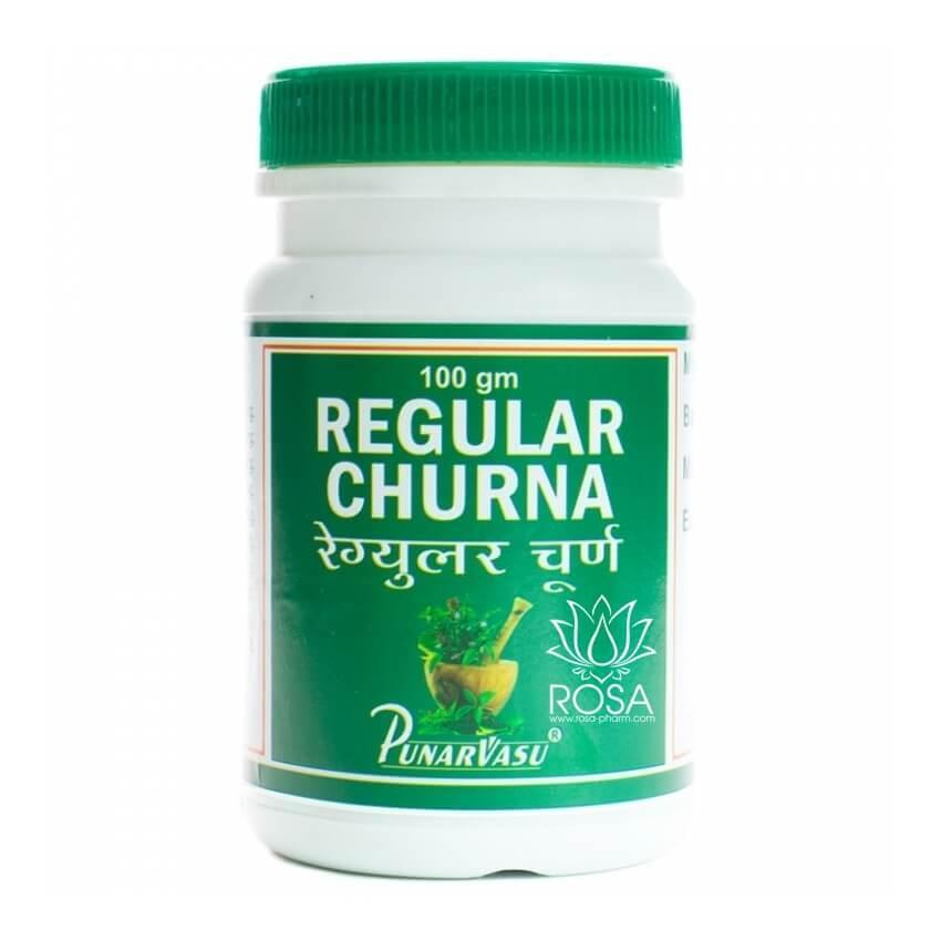 Регулар чурна (Regular Churna, Punarvasu) улучшает моторику кишечника, 100 грамм