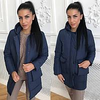 Куртка женская теплая зимняя с капюшоном на утеплителе силикон разные цвета  Gol828 825d0023b6320