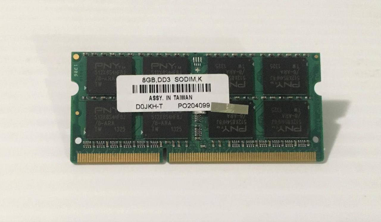 "Оперативная память PNY D0JKH-T DDR3/8GB/1600MHz/SO-DIMM ""Over-Stock"" Б/У"