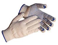 Перчатки рабочие с ПВХ 7 класс, 5 нитки - № 149