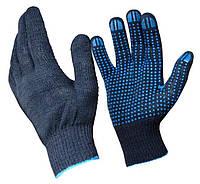 Перчатки рабочие с ПВХ 7 класс, 7 нитки - № 673