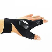 Перчатки Glove Light со встроенным фонариком Левая Черный (SUN1858)