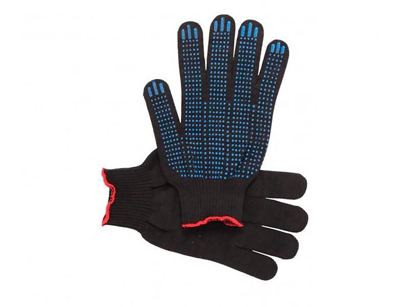 Перчатки рабочие с ПВХ 10 класс, 4 нитки - № 670