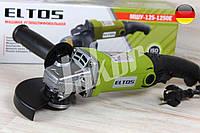 Машина углошлифовальная,Болгарка Eltos МШУ-125-1250E (регулировка оборотов)