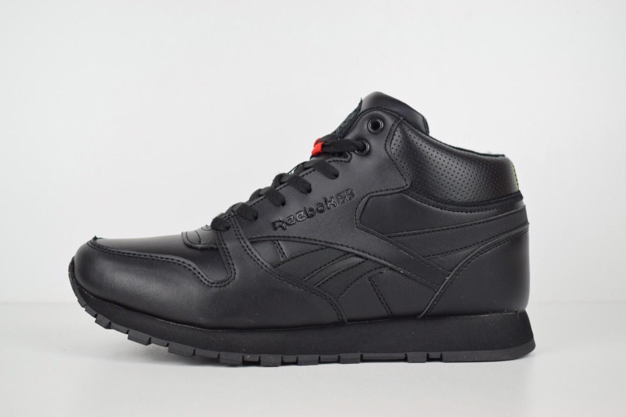7ce5e3e73b1e Зимние мужские кроссовки Reebok Classic высокие черные 3157 45 размера -  Компания