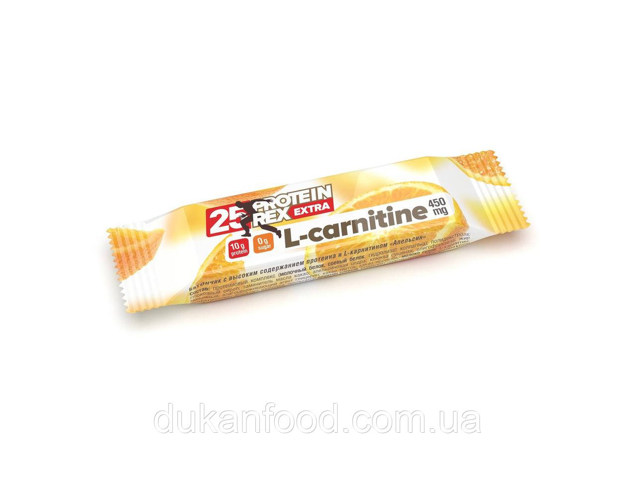 "Батончик протеиновый ProteinRex с L-карнитином ""Апельсин"", 25% протеина"
