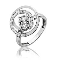 Серебряное кольцо завиток