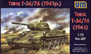 Сборная модель советского танка Т-34/76 в масштабе 1/72. UM329