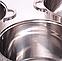 Набор Больших Качественных кастрюль KAMILLE 5803 обьемом 12,15,18л, фото 7