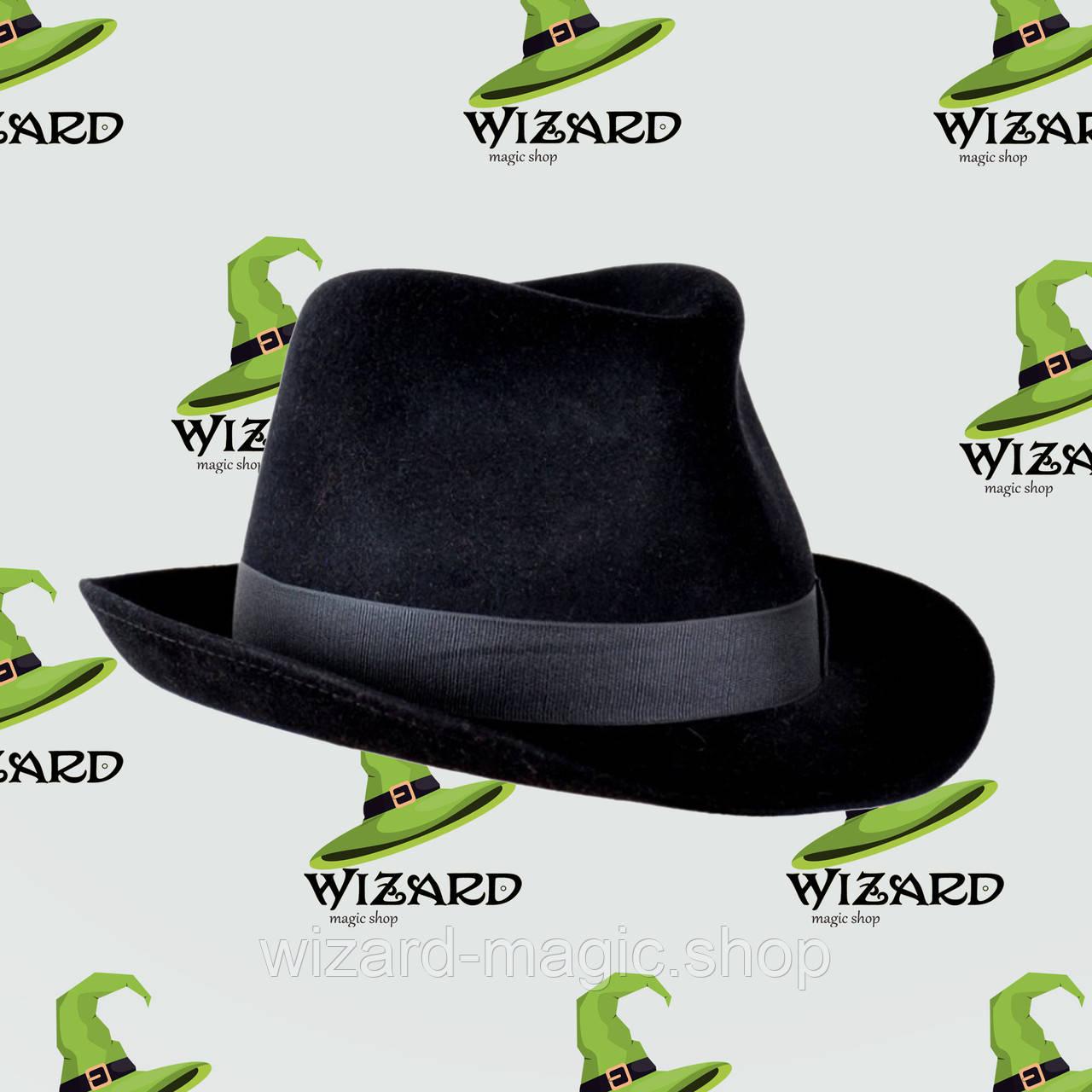 Шляпа Мужская фетр черная