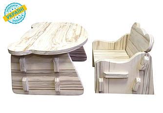 "Детский комплект стол и стул ""Baby desk"" Eva-Line дерево 1 сорт"