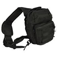 Сумка-рюкзак однолямочная Mii-Tec One Strap Assault Pack SM, черный, 9л, фото 1