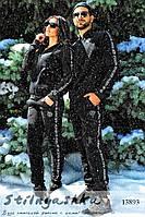 Черные костюмы с начесом для пары Philipp Plein (пара), фото 1