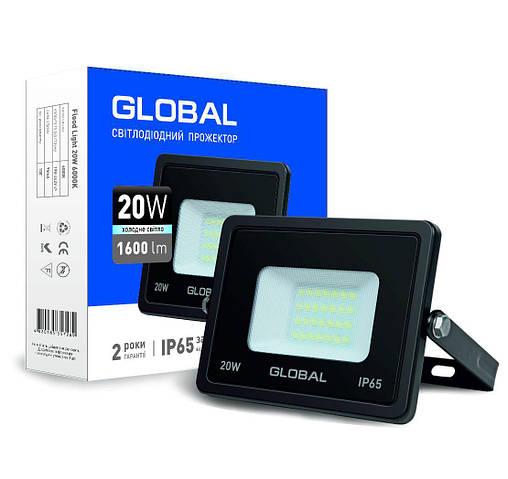 Светодиодный прожектор GLOBAL 1-GBL-02-LFL-2060 20W 6000K