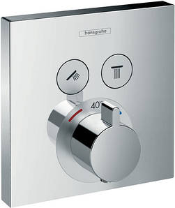 Термостат прихованого монтажу Hansgrohe ShowerSelect, на 2 користувачі
