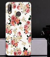Силиконовый чехол бампер для Huawei P20 Lite с картинкой Розочки