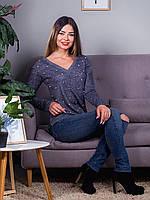 Женская  кофточка с V-образным вырезом, цвета в ассортименте, фото 1