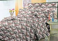 """Экономное постельное бельё (10253) семейное Бязь """"полиэстер"""" ТМ Kris-Pol Украина"""