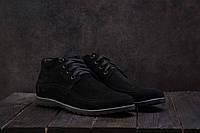 Чоловічі зимові черевики VanKristi зимові низькі класичні на хутрі (чорні), ТОП-репліка, фото 1