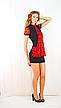 Плаття чорне з червоним шифоновим жабо, фото 4