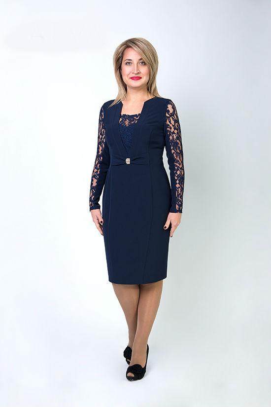 Платье темно-синее Биатрис 8261,размеры 48