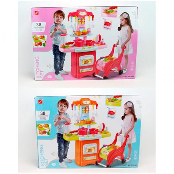 Детская кухня с тележкой арт. 889-123-124, 38 деталей