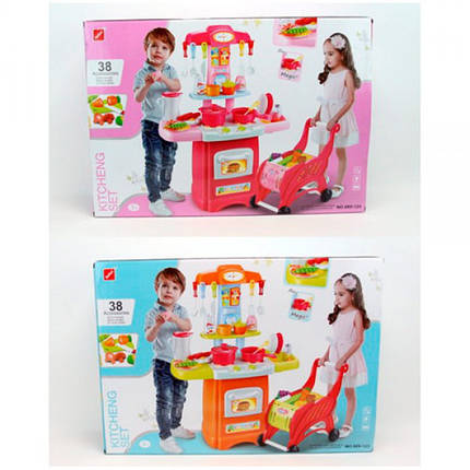 Детская кухня с тележкой арт. 889-123-124, 38 деталей, фото 2