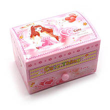 Музыкальная шкатулка с балериной розовая