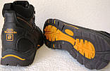 Jack Wolfskin чоловічі стильні зимові черевики чоботи Джек Вольфскин репліка чорна шкіра, фото 3