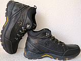 Jack Wolfskin чоловічі стильні зимові черевики чоботи Джек Вольфскин репліка чорна шкіра, фото 2
