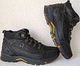 Jack Wolfskin чоловічі стильні зимові черевики чоботи Джек Вольфскин репліка чорна шкіра, фото 4