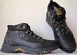 Jack Wolfskin чоловічі стильні зимові черевики чоботи Джек Вольфскин репліка чорна шкіра, фото 5