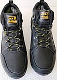 Jack Wolfskin чоловічі стильні зимові черевики чоботи Джек Вольфскин репліка чорна шкіра, фото 7
