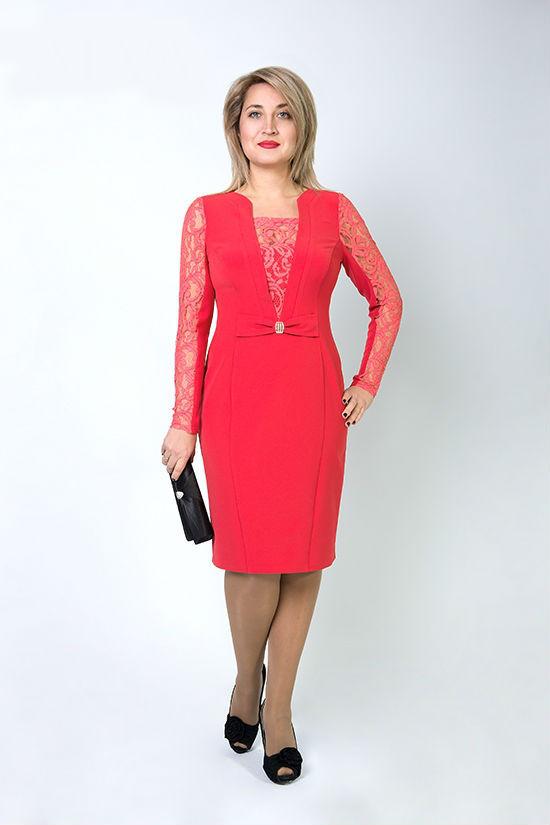 Платье больших размеров Биатрис 8261,размеры 48