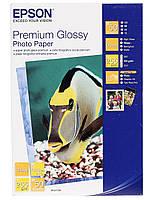 Фотобумага Epson Premium Glossy Photo Paper Глянцевая 255г/м кв, 10х15см, 50л (C13S041729)