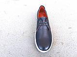 Кроссовки  кеды мужские кожаные синие 40 -45 р-р, фото 3