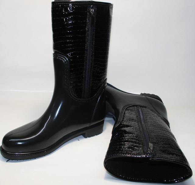 dccd3ef131c Модные женские резиновые сапоги на молнии Valex 4640 Black Reptile. Резиновая  обувь для города - выбирайте на сайте tufli.in.ua.