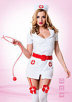 """Эротический костюм """"Похотливая медсестра"""", белый, S/M, М/L"""