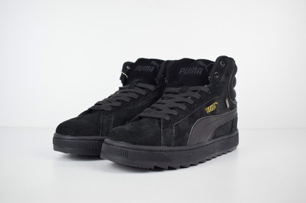 ... Зимние женские кроссовки Puma Suede высокие черные полностью 3176 40  размера, ... 660d34e3030